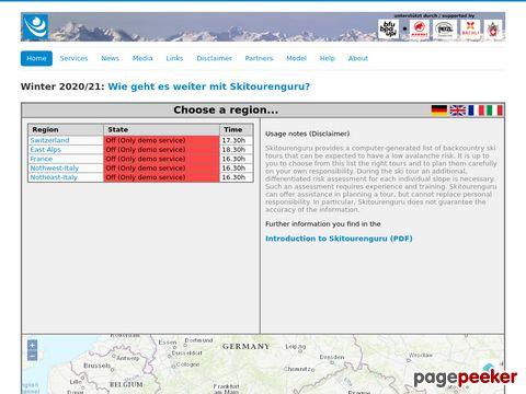 skitourenguru.ch - Planungshilfe für skitouren