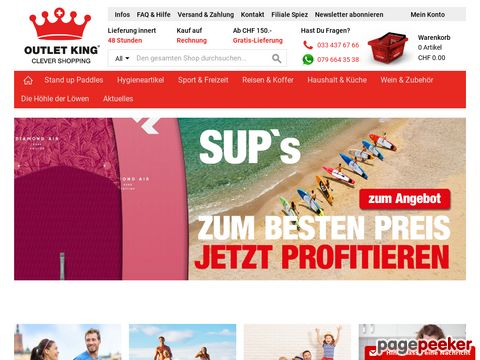 Outlet King - Clever Shopping mit bis zu 88% (Online & in Spiez/BE)