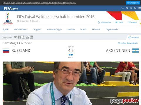 Futsal @ Fifa.com - Veranstalter der Futsal-Weltmeisterschaft