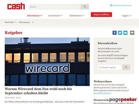 Der Online Anlageberater von Cash.ch