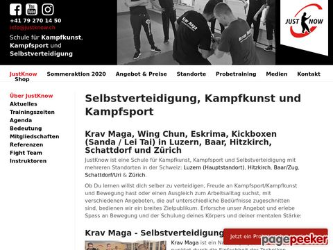 justknow.ch - Kampfkunst / Selbstverteidigung / Kampfsport