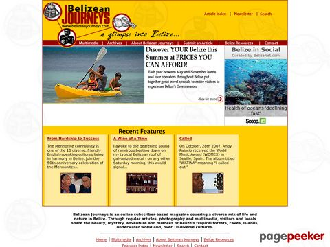 Belizean Journeys online magazine