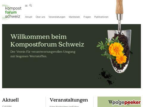 kompost.ch -  Kompostforum Schweiz