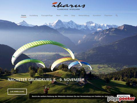 fly-ikarus.ch - Gleitschirm - Flugschule - Ikarus - Interlaken - Berner Oberland - Schweiz