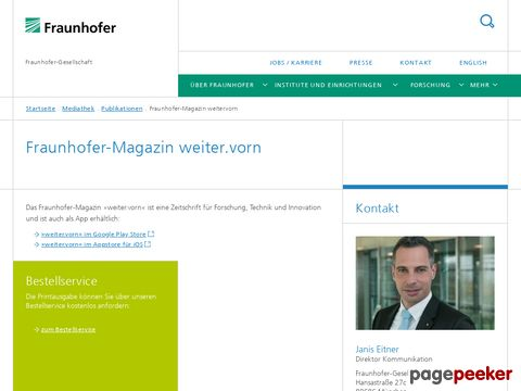 Fraunhofer-Gesellschaft - Fraunhofer-Magazin (DE)