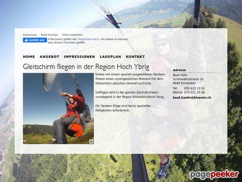 tandem-fliegen.ch - Gleitschirm Tandemflug Schweiz