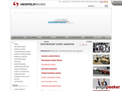 Heidfeld Racing School - Renntaxi, Fahrertraining, Formel selber fahren, Kart Schule, Driften
