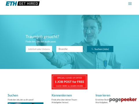 eth-gethired.ch - ETH get hired - The job platform for talent made in Switzerland