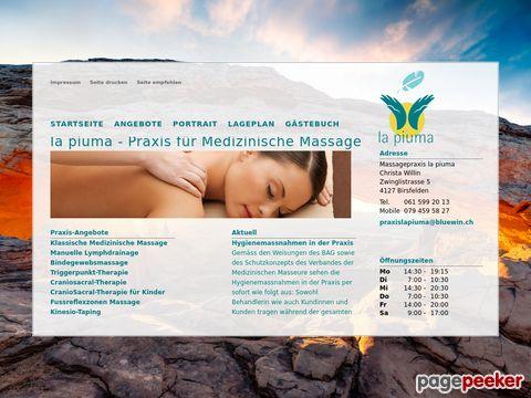 massagepraxis-la-piuma.ch - Medizinische Masseurin (Birsfelden / BL)
