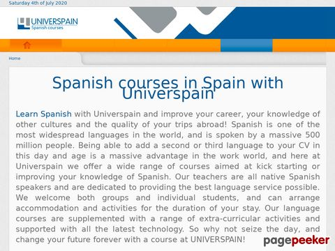 universpain.com - Learning spanish courses in Salamanca Spain
