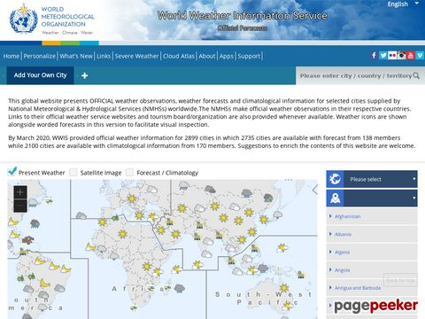 worldweather.org - World Wide Weather Information Service