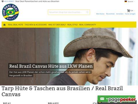 Real Deal Brazil Hüte und Taschen - Hüte & Taschen aus brasilianischen LKW-Planen