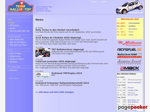 rallye.ch - Schweizer Rallyeszene - Team Rallye Top / News