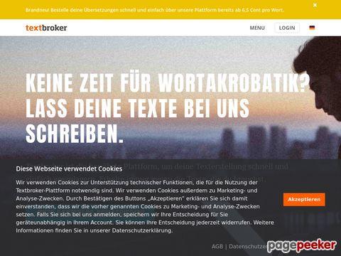 Textbroker - Texte schreiben lassen beim Original
