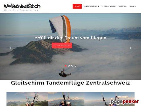 wolkenbasis.ch - Gleitschirm Passagierflüge Tandem Paragliding