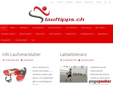 Aktuelles zum Laufsport und Dauerlauf- lauftipps.ch