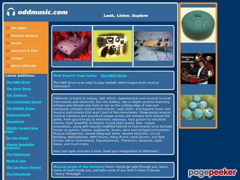 Oddmusic - schräge Instrumente - kreative Klänge