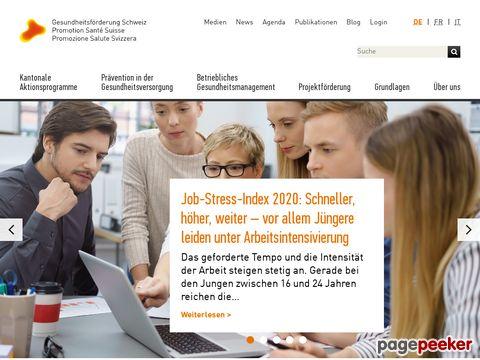 gesundheitsfoerderung.ch - Gesundheitsförderung Schweiz