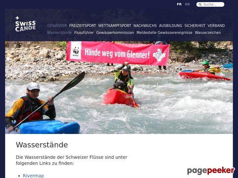 Wasserstand der Schweizer Flüsse