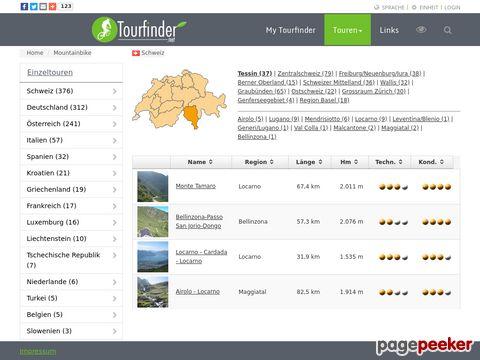 tourfinder.net - Velotouren Deutschland/Schweiz/Oesterreich und und...