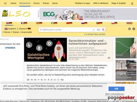LEO Wörterbuch (DE-EN / DE-FR / DE-SP / DE-IT / DE-CH)