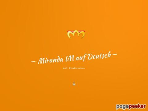 Hauptseite - Miranda IM auf Deutsch