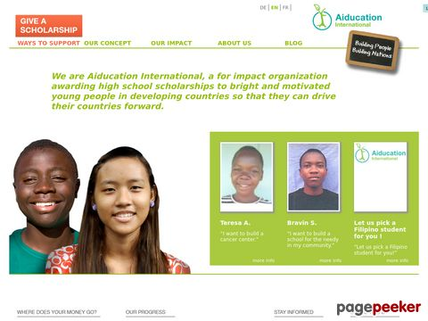 aiducation.org - Aiducation International - Your Scholarships for High Potentials
