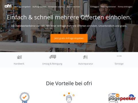 ofri.ch - Handwerker-Börse - Online-Marktplatz für lokale Dienstleistungen