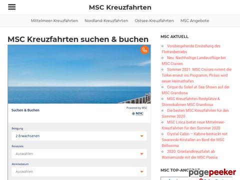 MSC Kreuzfahrten bei mscruise