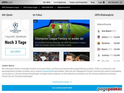 uefa.com - UEFA - Veranstalter der EURO