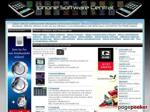 iphonesoftwarecentral.net - iPhone software and IPHONE freeware downloads