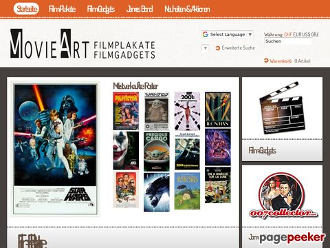 movieart.ch - Plakat-Shop & Film-Gadgets