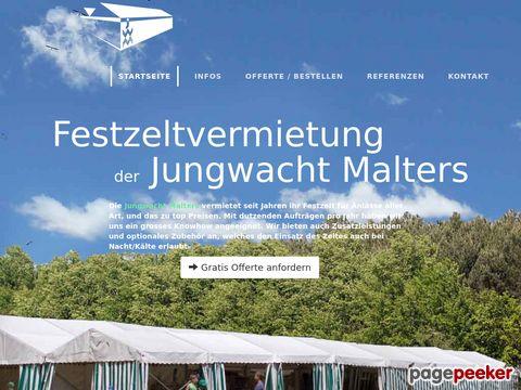 jwmalters.ch - das Festzelt der Jungwacht Malters günstig mieten