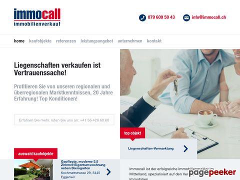 Immocall.ch Immobilien Verkauf und Beratung Kanton Zürich und Aargau