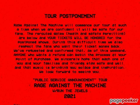 Rage Against The Machine - The Official Site