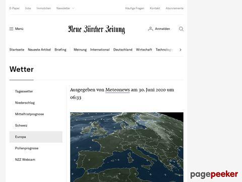 Wetter (NZZ Online, Neue Zürcher Zeitung)