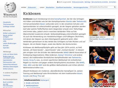 Kickboxen - Wikipedia