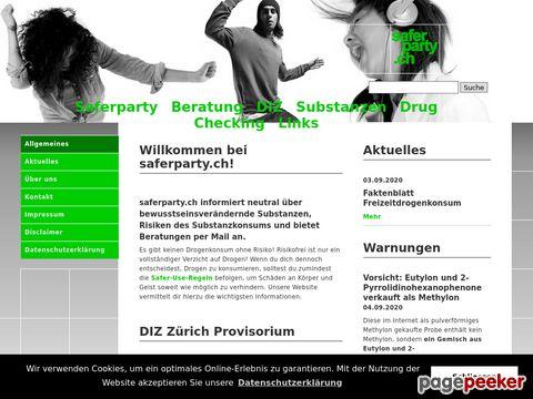 saferparty.ch - Neutrale Informationen über bewusstseinsverändernde Substanzen, Risiken des Substanzkonsums