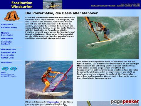Windsurfen - Portal mit Infos rund ums Windsurfen