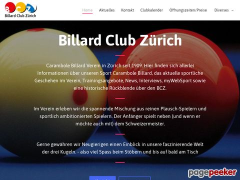 Billard Club Zürich (since 1909)
