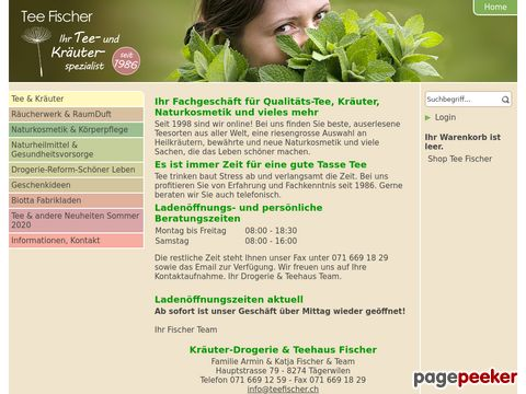Teefischer.ch - Teeshop mit top Qualität & riesen Auswahl