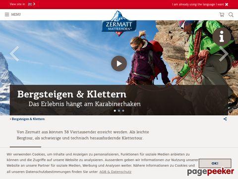 Bergsteigen und Klettern (Bergerlebnis Zermatt - Schweiz)