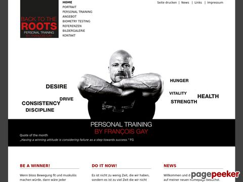 Personaltrainer Francois Gay