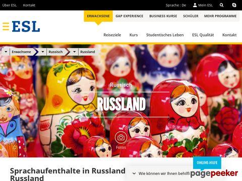 Sprachreise in Russland - ESL Sprachaufenthalte