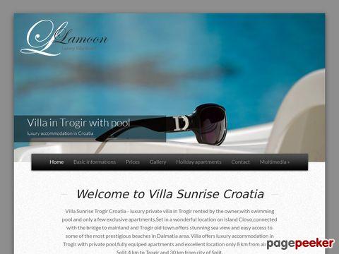 Kroatien urlaub ferienwohnungen Dalmatien Villa Sunrise mit pool