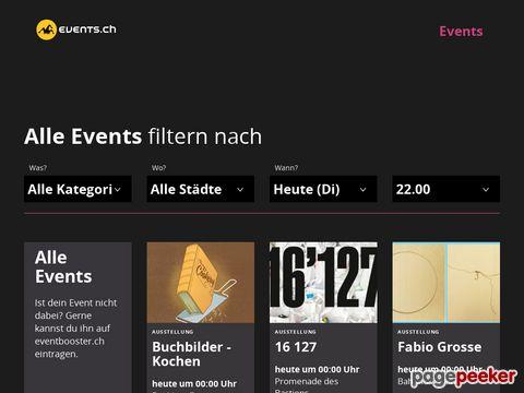 events.ch - Schweizer Veranstaltungskalender