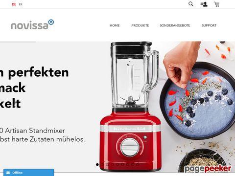 novissa.ch - Kitchenaid Haushaltsgeräte und Küchenmaschinen