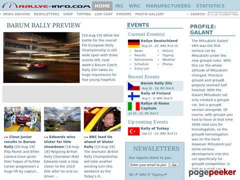 Rallye-Info.com - Unofficial WRC Rally News