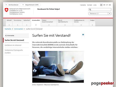 cybercrime.ch - Schweizerischen Koordinationsstelle zur Bekämpfung der Internetkriminalität (KOBIK)
