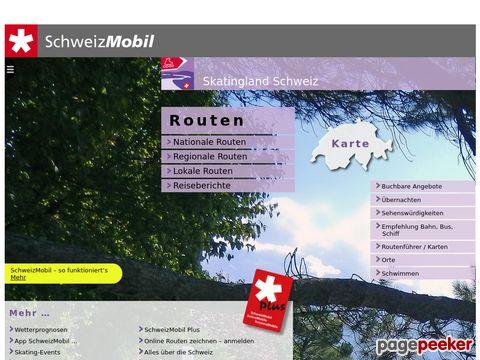 skatingland.ch - offizielle Routen zum Skaten in der Schweiz